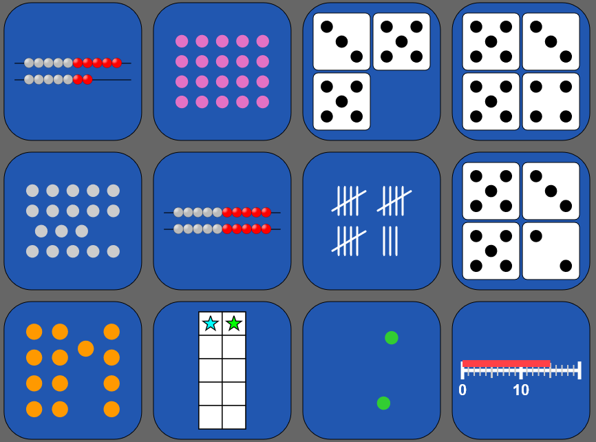 Whole Number Representation Match Game Image